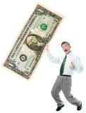 La stretta dell'uomo d'affari grande gradua secondo la misura dollaro US Fotografia Stock Libera da Diritti