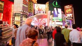 La striscia di Las Vegas stock footage