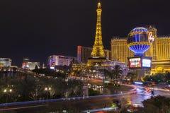 La striscia di Vegas recupera dopo una tempesta seria a Las Vegas, NV Immagini Stock