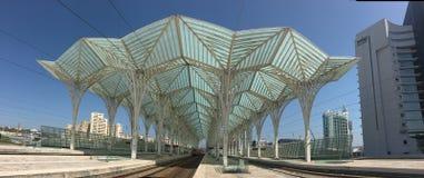 La structure arborescente, Gare font Oriente, Lisbonne, Portugal par Calatrava Images stock