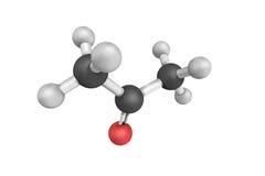la structure 3d de l'acétone a systématiquement appelé le propanone 2 Photos stock