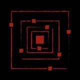 La structure de l'atome avant Big Bang Photos libres de droits