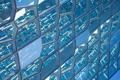 La structure du mur de verre Photo stock