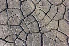 La struttura al suolo dell'argilla incrinata Fotografia Stock Libera da Diritti
