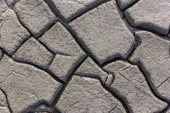 La struttura al suolo dell'argilla incrinata Immagini Stock