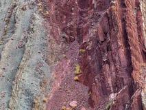 La struttura astratta del fondo dell'arenaria oscilla il rosso luminoso, Borgogna ed il verde Fotografia Stock