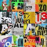 La struttura casuale del collage del fondo fotografa l'insieme di griglia Immagine Stock