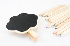 La struttura come nuvola con la matita di colore Immagine Stock