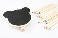 La struttura come orso con la matita di colore Fotografia Stock