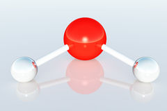 La struttura complessa 3D dell'atomo della molecola rende Immagini Stock
