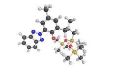 la struttura 3d del trisiloxane di Drometrizole (INCI), un lipofilico è Fotografia Stock Libera da Diritti