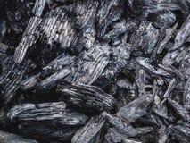 La struttura del carbone ha andato dal fuoco come fondo Fotografia Stock