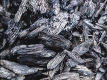 La struttura del carbone ha andato dal fuoco come fondo Fotografia Stock Libera da Diritti