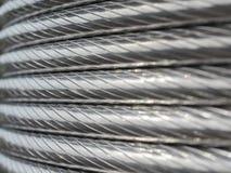 La struttura del cavo di alluminio Immagini Stock Libere da Diritti