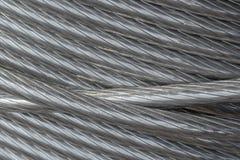 La struttura del cavo di alluminio Fotografia Stock Libera da Diritti
