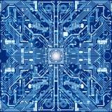 La struttura del circuito del computer o elettronici senza cuciture circonda Fotografia Stock Libera da Diritti