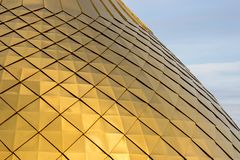 La struttura del Golden Dome brillante con i modelli del rombo Immagini Stock Libere da Diritti