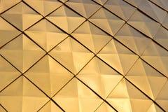 La struttura del Golden Dome brillante con i modelli del rombo, Immagini Stock Libere da Diritti