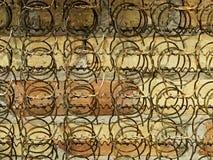 La struttura del letto balza vecchio immagini stock