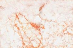 La struttura del marmo dell'oro di Rosa nel modello naturale con l'alta risoluzione per fondo, mattonelle lapida il pavimento Fotografia Stock
