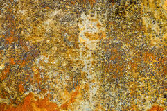 La struttura del minerale metallifero è stata creata con una bella ruggine Fotografie Stock Libere da Diritti