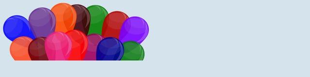 La struttura del pallone, insegna con spazio per testo Fotografia Stock