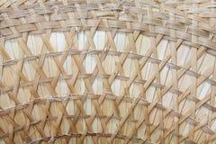 La struttura del primo piano di senza giunte ratten il vimine Fotografia Stock