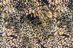 La struttura del tessuto della stampa barra il serpente Fotografia Stock