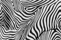 La struttura del tessuto della stampa barra la zebra fotografie stock