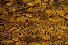 La struttura del tessuto della stampa ha barrato il cuoio del serpente per fondo Fotografia Stock