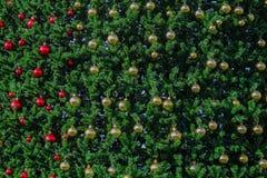 la struttura dell'albero di Natale con la palla di natale come carta da parati di American National Standard del fondo Fotografie Stock Libere da Diritti