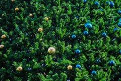 la struttura dell'albero di Natale con la palla di natale come carta da parati di American National Standard del fondo Fotografia Stock Libera da Diritti