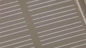 La struttura della batteria solare stock footage