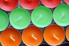 La struttura della candela rotonda multi-colored Fotografie Stock