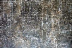 La struttura della carta Un foglio di carta grigio scuro Iscrizioni invecchiate fotografia stock libera da diritti