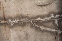 La struttura della crepa sulla riparazione del gesso del muro di cemento Fotografia Stock Libera da Diritti
