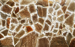 La struttura della pietra marrone Fotografie Stock
