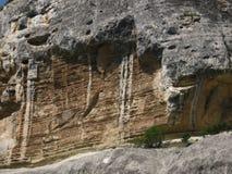 La struttura della roccia Primo piano Fotografia Stock Libera da Diritti