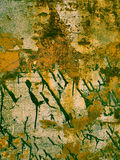 La struttura della ruggine del metallo con pittura nera spruzza, fondo astratto di lerciume nel retro stile della foto Fotografia Stock