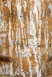 La struttura della superficie di metallo di alluminio nociva, metallo grigio con le bande di pittura marrone, fondo astratto Fotografie Stock
