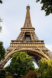 La struttura della torre Eiffel, Parigi Fotografia Stock Libera da Diritti
