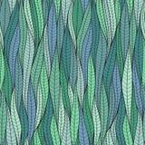La struttura delle foglie Reticolo senza giunte Illustrazione Vettoriale