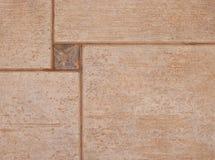 La struttura delle mattonelle di ceramica marroni Fotografia Stock Libera da Diritti