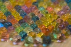La struttura delle palle bagnate luminose Fotografia Stock