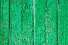 La struttura delle plance verdi di legno misere fotografia stock libera da diritti