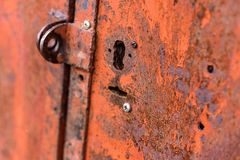 La struttura delle porte del metallo Immagini Stock