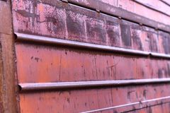 La struttura delle porte del metallo Fotografie Stock Libere da Diritti