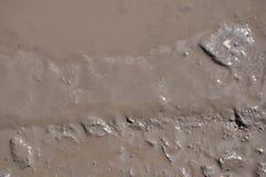 La struttura di fango pozza Fotografia Stock