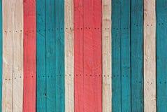 La struttura di legno colorata luminosa dal vecchio recinto imbarca Fotografia Stock Libera da Diritti