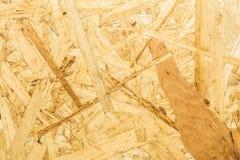 La struttura di legno del truciolato, fondo dell'estratto di architettura del primo piano Fotografia Stock Libera da Diritti